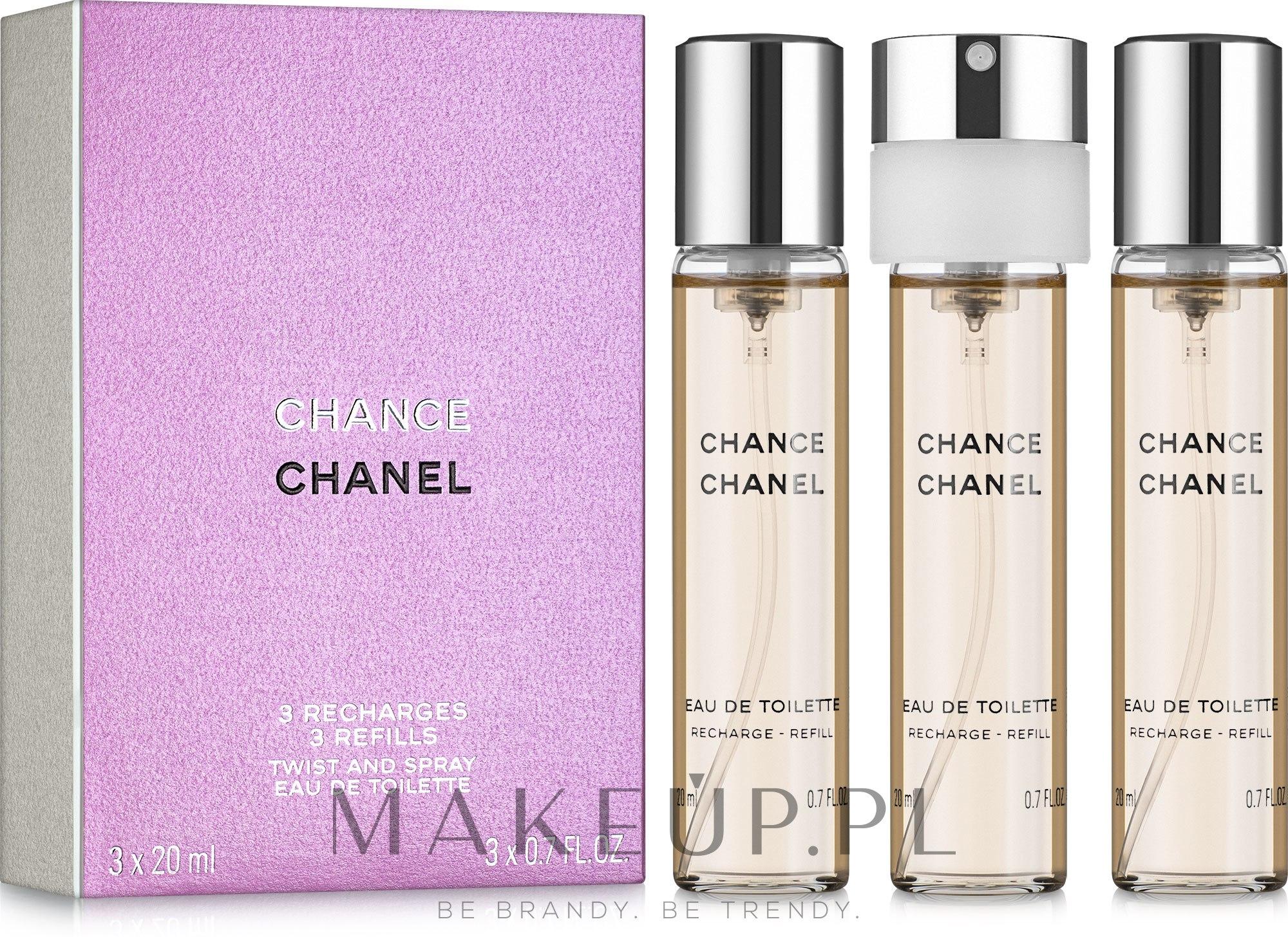 Chanel Chance - Woda toaletowa (trzy wymienne wkłady) — фото 3x20 ml