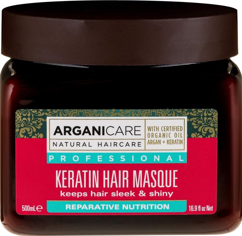 Maska do wszystkich rodzajów włosów - Arganicare Keratin Nourishing Hair Masque