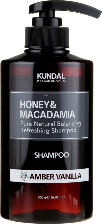 Intensywnie nawilżający szampon proteinowy do włosów Ambra i wanilia - Kundal Honey & Macadamia Amber Vanilla Shampoo