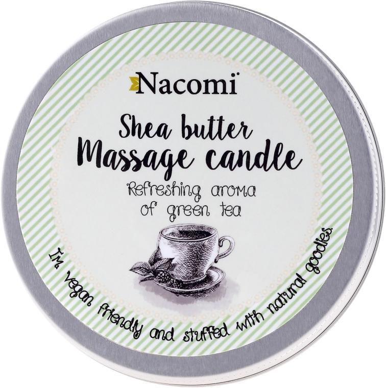 Świeca do masażu z masłem shea Zielona herbata - Nacomi Shea Butter Massage Candle