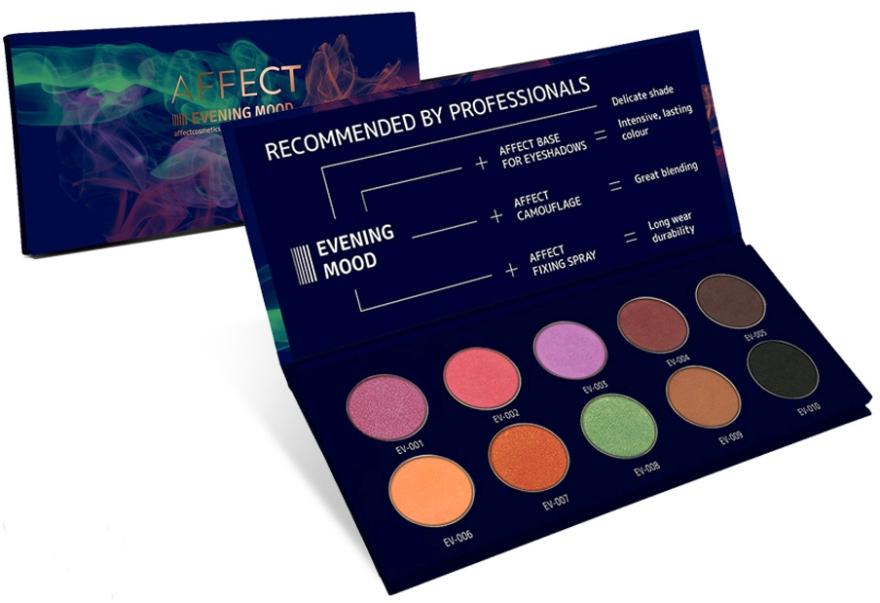 Paletka prasowanych cieni do powiek - Affect Cosmetics Evening Mood Eyeshadow Palette