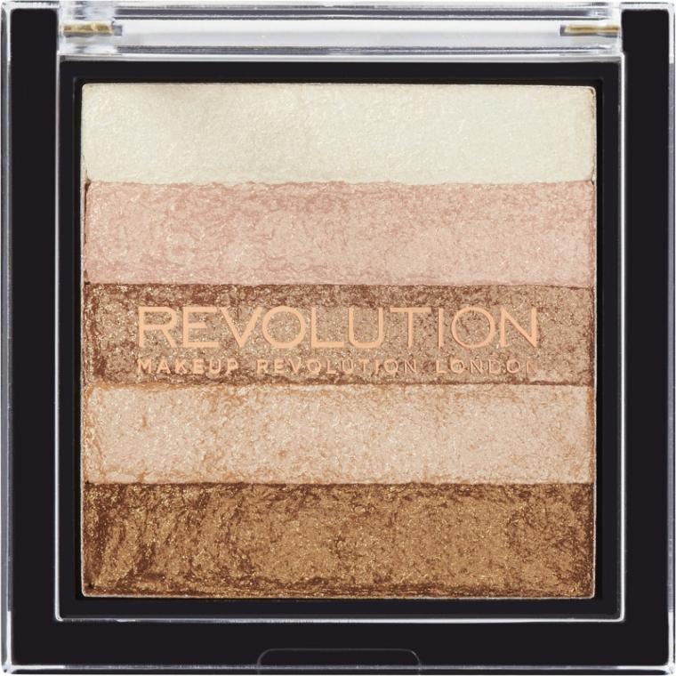 Rozświetlacze do twarzy - Makeup Revolution Shimmer Brick