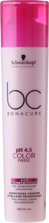 Micelarny szampon do włosów farbowanych - Schwarzkopf Professional Bonacure Color Freeze Rich Micellar Shampoo