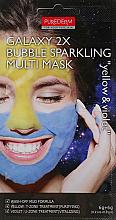 Kup Piankowa maska do twarzy Żółto-fioletowa - Purederm Galaxy 2X Bubble Sparkling Multi Mask