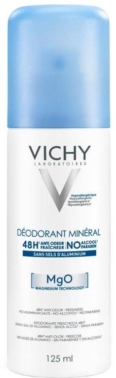 Dezodorant mineralny w sprayu do skóry wrażliwej - Vichy Mineral Deodorant Spray 48H Sensitive Skin — фото N1