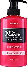 Kup Naturalny nawilżająco-odświeżający balsam do ciała Białe piżmo - Kundal Honey & Macadamia White Musk Body Lotion
