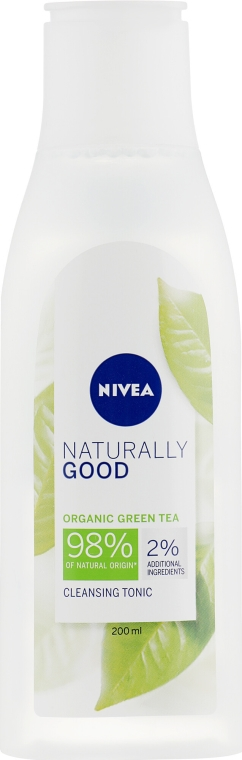 Oczyszczający tonik do twarzy - Nivea Naturally Good Cleansing Refreshing Toner — фото N1