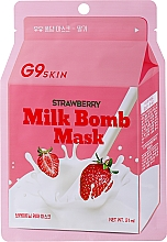 Kup Rozjaśniająca mleczna maseczka do twarzy w płachcie - G9Skin Milk Bomb Mask Strawberry
