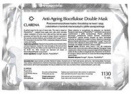 Kup Przeciwzmarszczkowa maseczka odmładzająca do twarzy Rozmaryn - Clarena Cosmetic Pads Anti-Age Biocellulose Double Mask