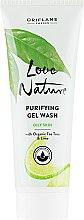Oczyszczający żel do mycia twarzy z olejkiem z drzewa herbacianego i limonką - Oriflame Love Nature Purifying Gel Wash — фото N1