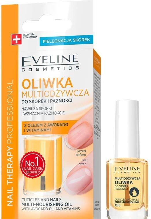 Multiodżywcza oliwka z olejem z awokado i witaminami do skórek i paznokci - Eveline Cosmetics Nail Therapy Professional
