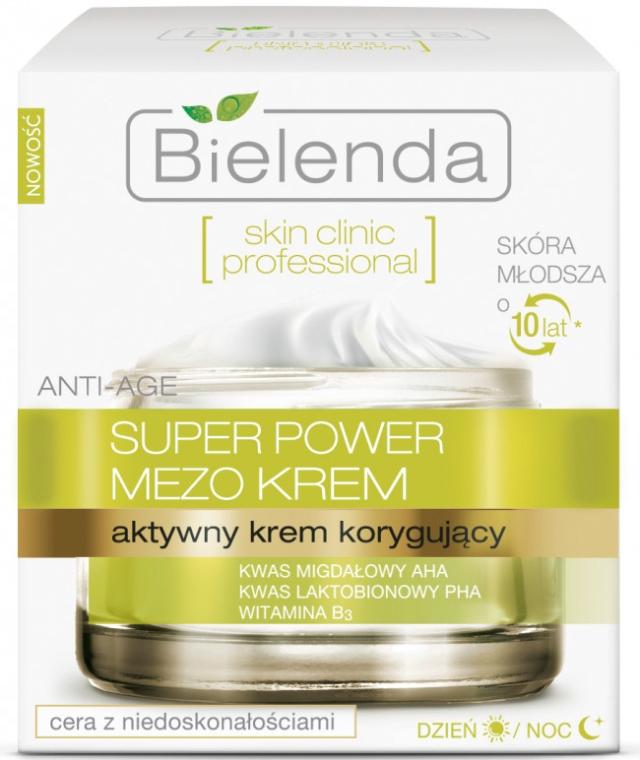 Aktywny krem korygujący na dzień i na noc - Bielenda Skin Clinic Professional Super Power Mezo