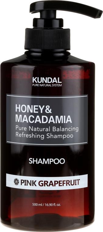 Balansująco-odświeżający szampon do włosów Różowy grejpfrut - Kundal Honey & Macadamia Pink Grapefruit Shampoo — фото N3