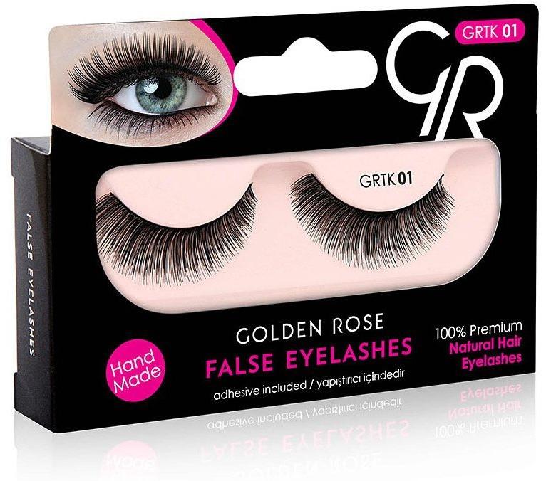 Sztuczne rzęsy z klejem - Golden Rose False Eyelashes — фото N1