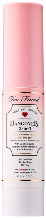 Baza pod makijaż w sprayu do twarzy 3 w 1 - Too Faced Hangover 3-in-1 Replenishing Primer and Setting Spray — фото N3