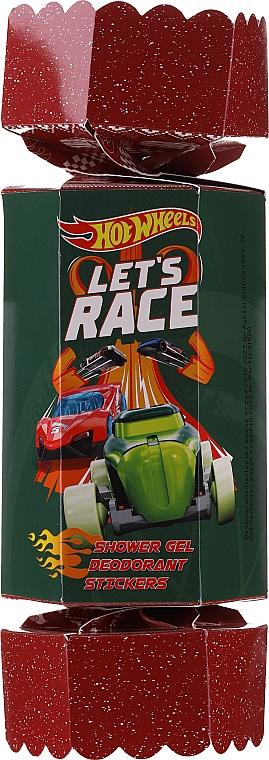 Zestaw - Uroda HotWheels Let's Race Set (sh/gel/100ml + deo/100ml + stickers) — фото N1