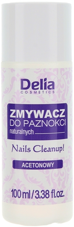 Regenerujący zmywacz do paznokci naturalnych - Delia Acetone Nail Polish Remover for Natural Nails