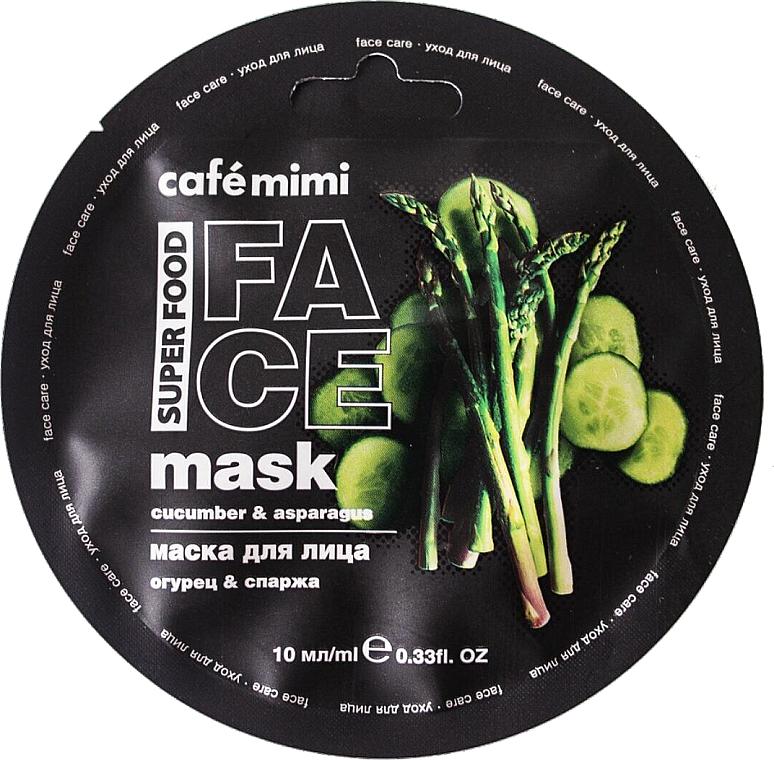 Maseczka do twarzy Ogórek i szparagi - Cafe Mimi Face Mask