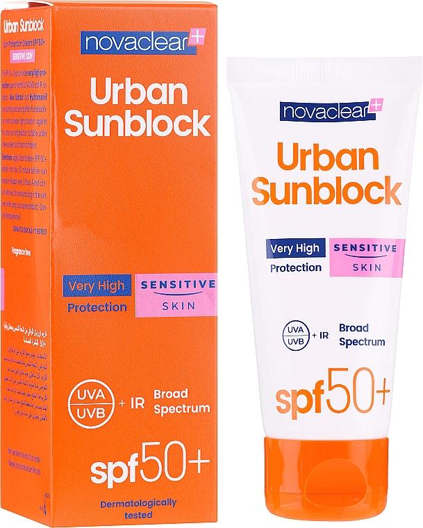 Krem ochronny przeciw promieniom UV do skóry wrażliwej - Novaclear Urban Sunblock Protective Cream Sensitive Skin SPF50