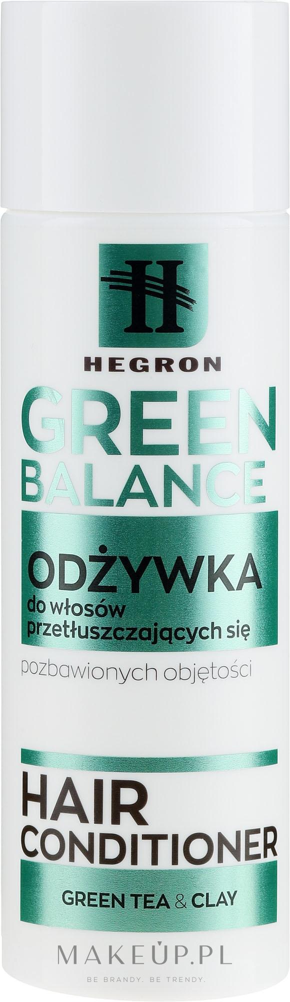 Odżywka do włosów przetłuszczających się i pozbawionych objętości - Hegron Green Balance Hair Conditioner — фото 180 ml