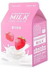 Kup Rozjaśniająca maska na tkaninie do twarzy Truskawka - A'Pieu Milk One-Pack Brightening Strawberry