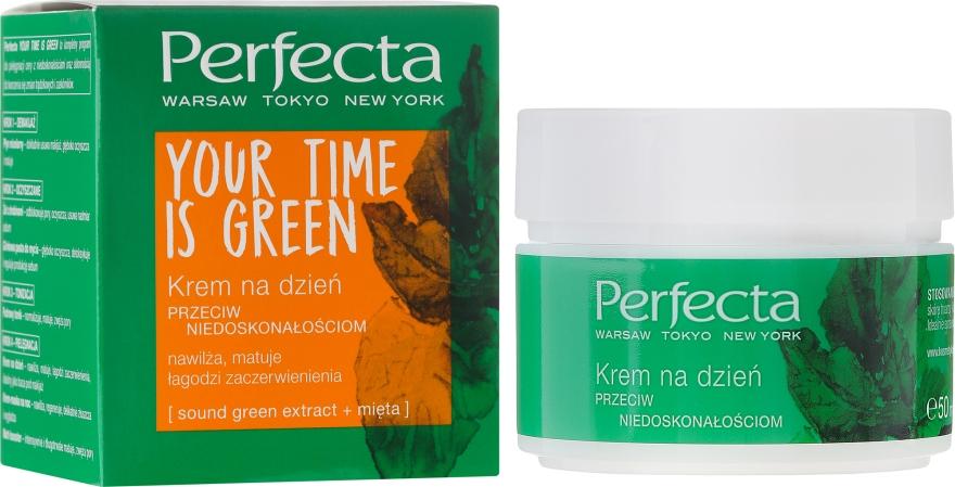 Krem na dzień przeciw niedoskonałościom - Perfecta Your Time Is Green