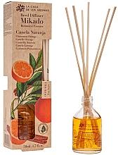 Kup Dyfuzor zapachowy Pomarańcza i cynamon - La Casa de los Aromas Mikado Botanical Reed Diffuser Cinnamon Orange