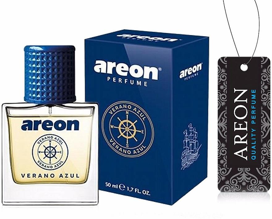 Zapach do samochodu - Areon Luxury Car Perfume Long Lasting Air Freshener Verano Azul — фото N1