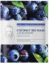 Kup Nawilżająca maska z galaretką kokosową i ekstraktem z borówki - Leader Coconut Bio Mask With Blueberry
