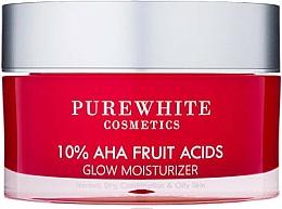 Kup Nawilżający krem rozświetlający do twarzy - Pure White Cosmetics 10% AHA Fruit Acids Glow Moisturizer