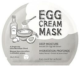 Kup Nawilżająca maseczka w płachcie do twarzy Olejek z awokado i żółtko jajka - Too Cool For School Egg Cream Mask Deep Moisture