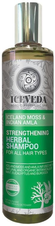 Wzmacniający szampon ziołowy do włosów Islandzki mech i indyjska amla - Iceveda