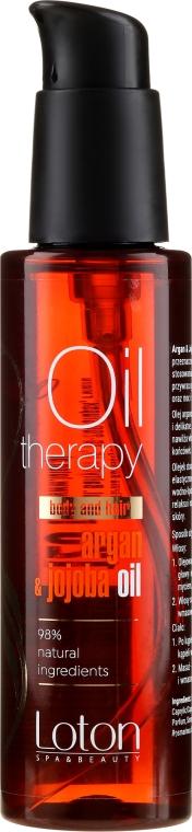 Olejek do ciała i włosów - Loton Argan & Jojoba Oil — фото N1