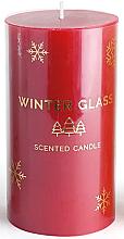 Kup Świeca zapachowa, czerwona, 7 x 8 cm - Artman Winter Glass