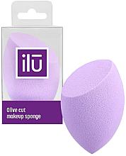 Kup Gąbka do makijażu z płaskim cięciem, fioletowa - Ilu Sponge Olive Cut Purple