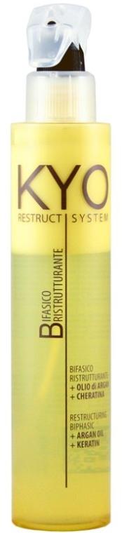 Odżywka w sprayu do włosów z olejem arganowym i keratyną - Kyo Restruct System Restructuring Biphasic Conditioner — фото N1