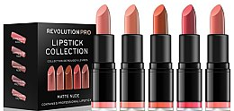 Kup Zestaw 5 szminek do ust - Revolution Pro 5 Lipstick Collection Matte Nude