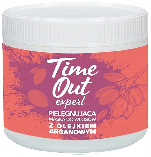 Pielęgnująca maska do włosów z olejkiem arganowym - Time Out  — фото N1