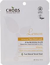 Kup Wybielająca maska na tkaninie do twarzy Cytryna - CHOBS Lemon Mask Pack
