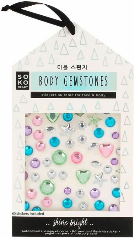 Naklejki do twarzy i ciała - Soko Ready Stikers For Face & Body — фото N1