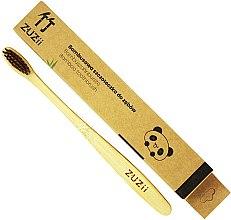 Kup Bambusowa szczoteczka do zębów z miękkim włosiem, brązowa - Zuzii Soft Toothbrush