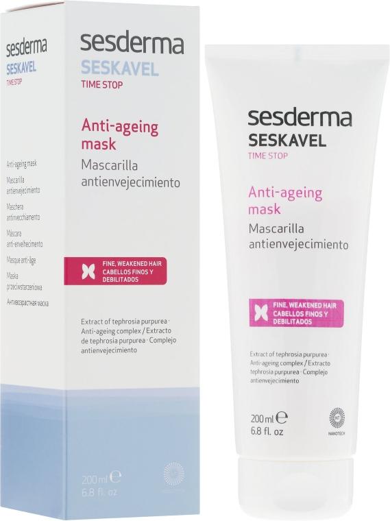 Przeciwstarzeniowa maska intensywnie naprawiająca do włosów - SesDerma Laboratories Seskavel Time Stop Anti-Ageing Mask — фото N1