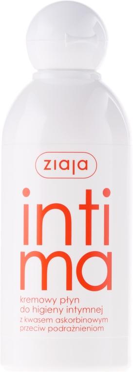 Kremowy płyn do higieny intymnej z kwasem askorbinowym - Ziaja Intima