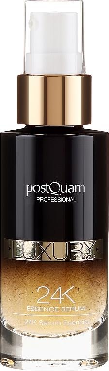 Skoncentrowane serum do twarzy ze złotem - PostQuam Luxury Gold 24k Essence Serum — фото N2
