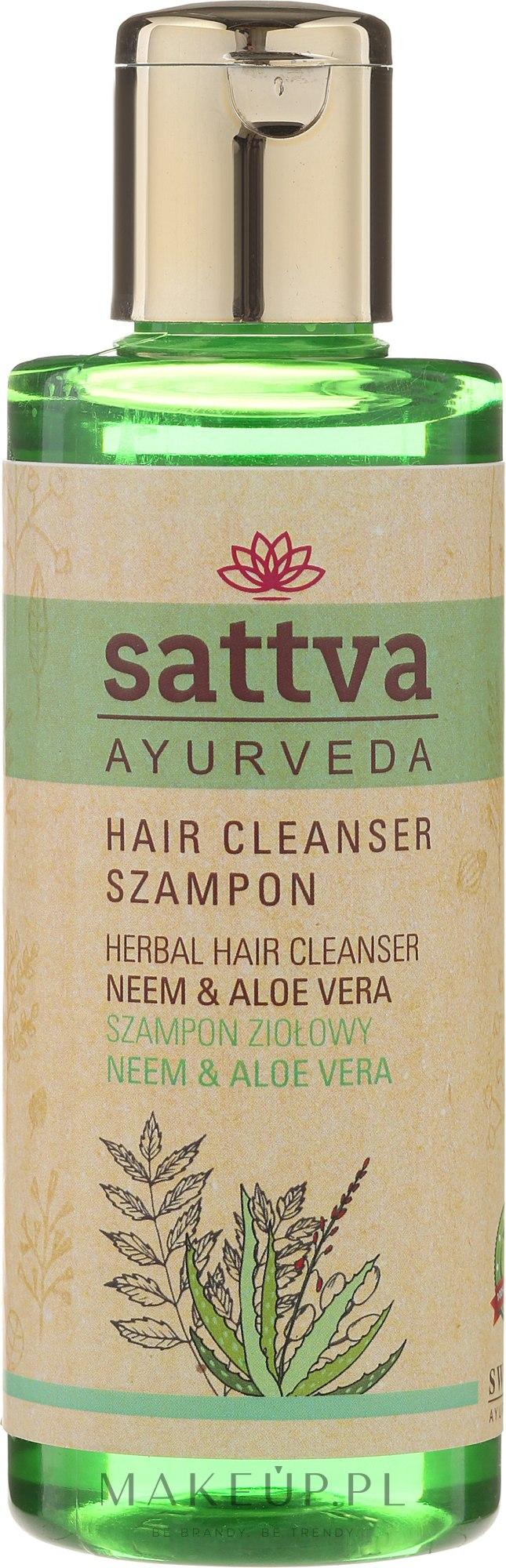 Ziołowy szampon do włosów Neem i aloes - Sattva Cleanser Shampoo Neem Aloe Vera — фото 210 ml