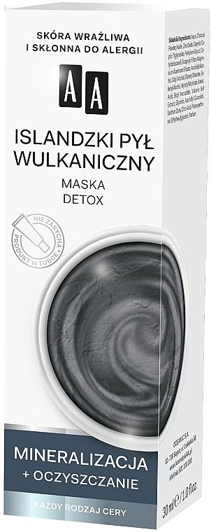 Detoksykująca maska Islandzki pył wulkaniczny - AA Color Detox Face Mask — фото N2
