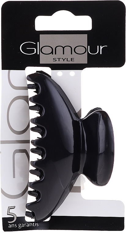 Spinka do włosów, 0216, czarna - Glamour — фото N1