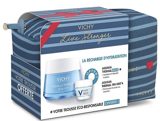 Zestaw - Vichy Aqualia Thermal For Dry Skin (cr/50ml + cr/15ml + bag) — фото N1