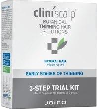 Kup Zestaw produktów zapobiegających wypadaniu włosów - Joico Cliniscalp 3-step Trial Kit For Natural Hair Early Stages (shmp/100ml + cond/100ml + treat/50ml)