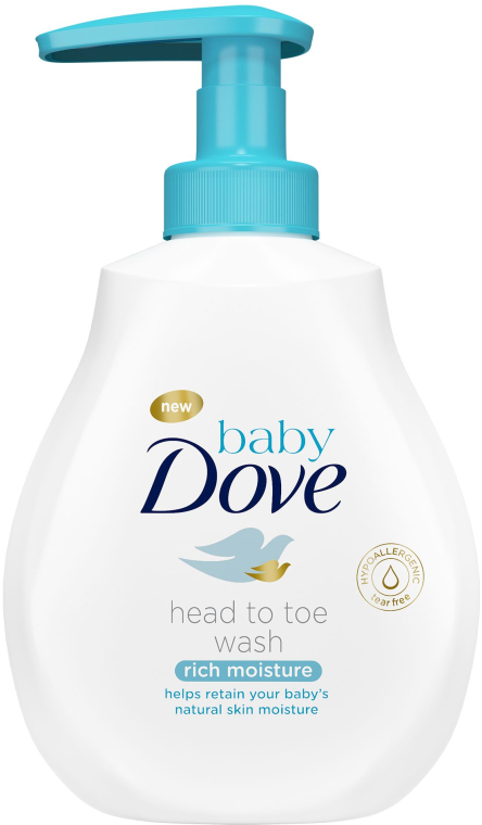 Zestaw dla dzieci - Dove Baby Rich Moisture (lot/200ml + b/wash/200ml + cr/45g) — фото N2